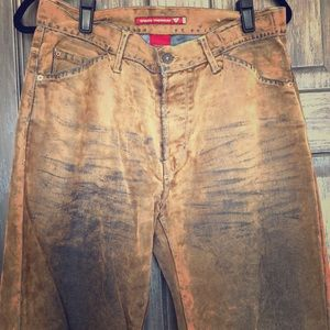 Distressed Suede Overlay Denim Guess Jeans 32w